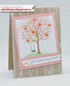 Splotch Design - Jacquii McLeay - Stampin Up - Sheltering Tree Card
