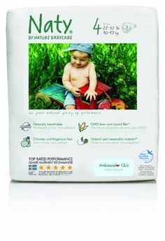 Nature Babycare Chlorine-Free ECO Diapers Size 4 (22-37lbs) (Pack of 4) by Nature Babycare. $43.99. Amazon.com Product Description      Nature Babycare Diapers are 100-percent chlorine-free and keep oil-based plastics away from babies delicate skin. Our absorbent pulp is from sustainably harvested Scandinavian forests and the patented center-channel means a less bulky fit while enhancing leak protection. Since we use 60-percent natural materials instead of plastic, ou...