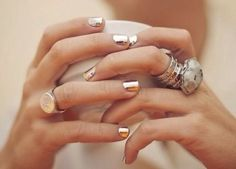 metallic nails.