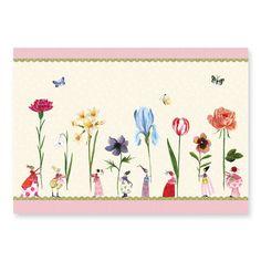 """Tischset """"Blumenfrauen"""" von Silke Leffler #Grätz #SilkeLeffler"""