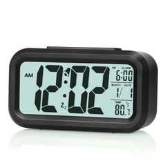 Anseahawk 5.3' Digital Alarm Clock with Smart Controllable Backlight, Black >>> Final call for this special discount  : Kids Room Decor