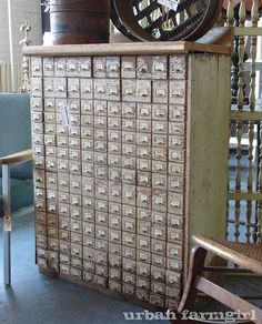 antique seed cabinet <3