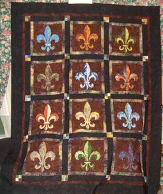 "fleur de lis fabric | Fleur de Lis"" by Frances - Show & Tell - Quilters Club of America"