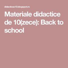 Materiale didactice de 10(zece): Back to school
