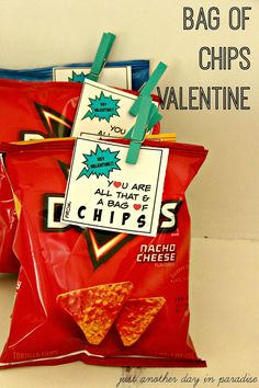 Just Another Day in Paradise: All That and a Bag of Chips Classroom Valentines