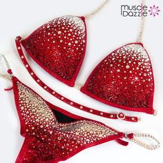 Red Crystal Competition Bikini