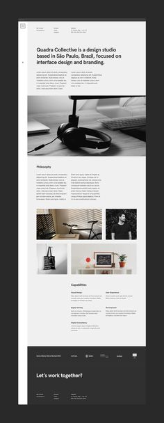 Quadra Collective Website on Web Design Served Web Design Mobile, Web Ui Design, Best Web Design, Design Blog, Web Design Studio, Mobile Web, Website Layout, Web Layout, Layout Design