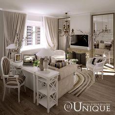 living room + study