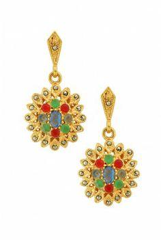 Amrapali- 18k gold plated earrings