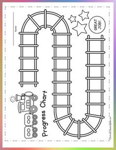 """Progress charts are an excellent way to motivate your child to complete their assignment as they are naturally wired for progress and look forward to reaching the """"completed"""" mark. Printable Reward Charts, Reward Chart Kids, Kids Rewards, Rewards Chart, Sticker Chart Printable, Incentive Charts, Reading Rewards, Behavior Incentives, Free Printable"""