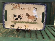 Molly DallasCow Decor and Cow Collectibles by Molly Dallas - Cow and Farm Animal Serving Platter- Serving Dish by MollyDallasCo on Etsy