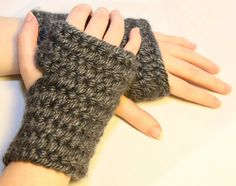 Nalbinded gloves on Etsy for $25  These charcoal grey gloves were made using an ancient method called Nalbinding used by Vikings which predates knitting and crochet by around 2000 years. https://www.etsy.com/listing/217528226/grey-nalbinded-fingerless-gloves?