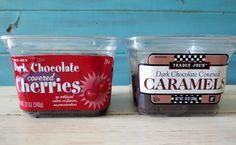 Trader Joe's Chocolate Covered Cherries and Dark Chocolate Caramel