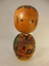 Vintage JAPANESE KOKESHI DOLL Hand Painted POST WWII No 56 Japan CREATIVE STYLE