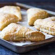 EASY Apple Turnovers made with puff pastry that come together in just 40 minutes!