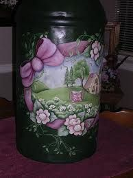 tole painted milk cans - Google Search