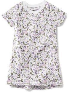 Patterned Sleep Dress Product Image