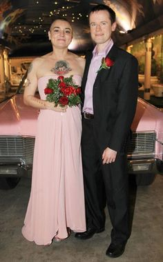 It was a pink wedding for Irish singer Sinéad O'Connor and Irish therapist Barry Herridge December 9, 2011.