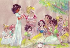 Photo of regency princess picnic for fans of disney princess. Disney Pixar, Disney Magic, Disney Princess Art, Disney Fan Art, Disney Dream, Disney And Dreamworks, Disney Movies, Disney Characters, Princess Photo
