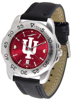 Indiana Hoosiers Sport AnoChrome Men's Watch with Leather Band: This handsome, eye-catching… #SportingGoods #SportsJerseys #SportsEquipment