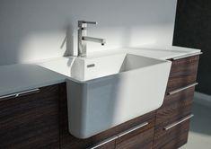 Spazio Time: la lavanderia elegante | Ville&Casali Inside Home, Love Home, Laundry Room, Sweet Home, Sink, New Homes, House Design, Bathroom, Home Decor