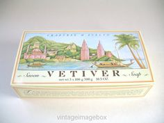 Vintage Crabtree and Evelyn Vetiver Soap set by VintageImageBox
