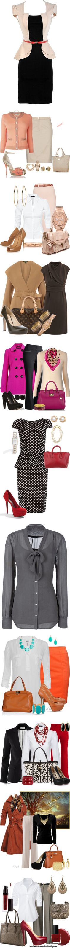 """work wear 1"" by pinkice ❤ liked on Polyvore"