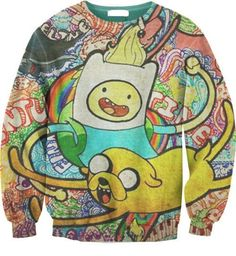 EAST KNITTING Wholesale G33 New 2015 Harajuku Adventure Time Print Women Sweatshirt Hoody Spring Autumn Pullover Streetwear