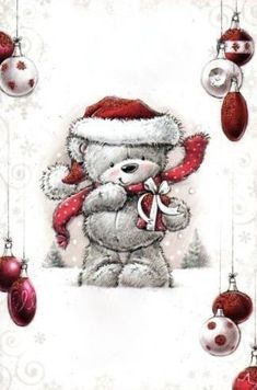 ♥ Simon Elvin Art ♥ Source by mariannegaya Christmas Drawing, Christmas Art, All Things Christmas, Winter Christmas, Vintage Christmas, Christmas Decorations, Christmas Ornaments, Xmas, Christmas Teddy Bear