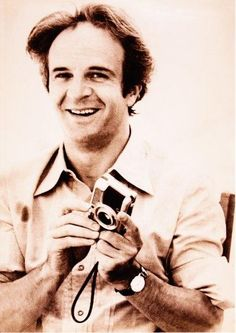Today's über-cool celebrity with an über-cool camera: French film director FRANÇOIS TRUFFAUT