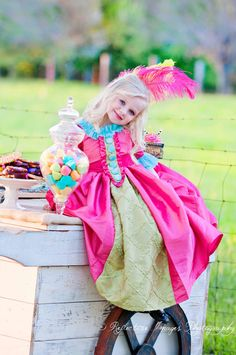 $185.00 Child's Marie Antoinette Halloween (and year round favorite dress!) by talented Alisha Collins of Atlanta, Georgia on ETSY.