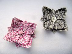 Fabric Origami rose, flower hair accessory pin or other