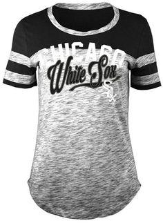 5th & Ocean Women's Chicago White Sox Space Dye Cb Yoke T-Shirt