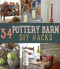 Pottery Barn Hacks | DIY Projects and Crafts by DIY Ready at http://diyready.com/diy-projects-pottery-barn-hacks