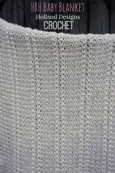 HRH Baby Blanket by designer Holland Designs.