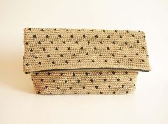 Looking for your next project? You're going to love Crochet pattern for polka dot clutch.  by designer maisabel2.