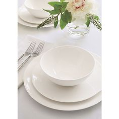 Sale ends soon. The traditional quality and translucence of fine white bone china are reinterpreted for the modern table by designer Martin Hunt as a pristine collection of contemporary coupe shapes that dress up or down.