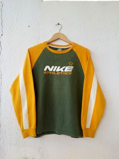 560a0d6c2 Nike Sweatshirt Swoosh Raglan Spell Out Jumper Pullover Size L Hip Hop  Mode