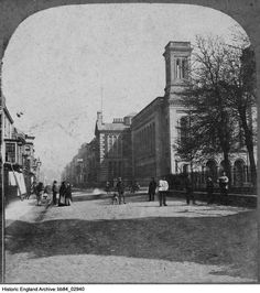 A view from the south of the Methodist Central Hall, formerly the Congregational Chapel, on King Street, Great Yarmouth, Norfolk Date 1860 - 1900 Central Hall, Great Yarmouth, Historical Images, Norfolk, England, Street View, King, English, British
