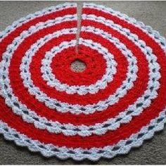 crochet pattern christmas tree skirt | ALL STITCHES - CROCHET CHRISTMAS TREE SKIRT PATTERN .PDF -043A ...