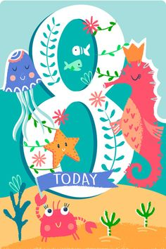 Art Birthday, Happy Birthday, Birthday Numbers, Birthday Messages, Mural Painting, Happy Colors, Cute Characters, Birthdays, Doodles