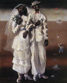 Marriage on the farm by Candido Portinari (Brazilian 1902-1963)