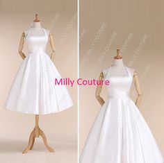 Halter rockabilly wedding dress1950s style wedding by MillyCouture