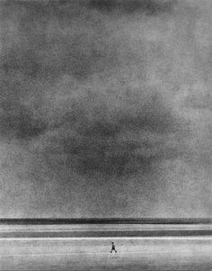 Edward Dimsdale... reminds me of The Monk by the Sea (oil painting by the German Romantic artist Caspar David Friedrich)