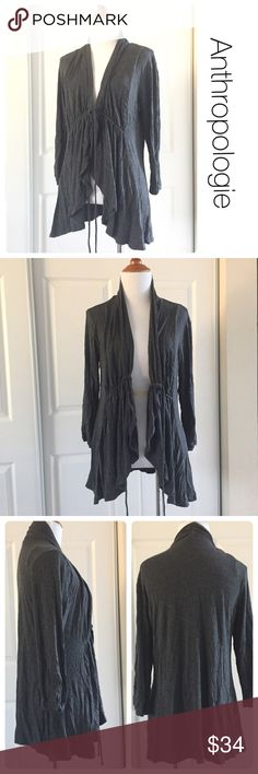 Anthropologie gray Plieone brand cardigan size L ♦️Excellent condition. No stains, holes or piling.   ♦️ Materials- 95 rayon/5 spandex Anthropologie Sweaters Cardigans