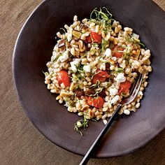 Barley Risotto with Eggplant and Tomatoes < Cooking with Eggplant: 20 Recipes - Cooking Light