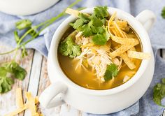 Slow Cooker Green Chili Chicken Soup