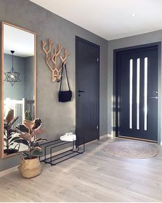 7882 Likes 102 Comments Malene Foss ( Entryway and Hallway Decorating Ideas Comments concrete Fos Foss husefjel Likes Malene Interior Design Living Room, Living Room Designs, Living Room Decor, Decor Room, Home Decor, Nordic Living Room, Interior Modern, Interior Door, Interior Architecture