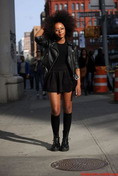 Black Girl, Curly Hair, Black Clothes, Style, Fashion