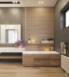 People judge the caliber of your home based on the value of your bathroom. Contemporary bathroom design is the very first major option when modern individuals are attempting to have a brand-new bathroom. Large Bathroom Mirrors, Large Bathrooms, Master Bathroom, Bathroom Closet, Bathroom Small, Bad Inspiration, Bathroom Inspiration, Bathroom Ideas, Wood Tub